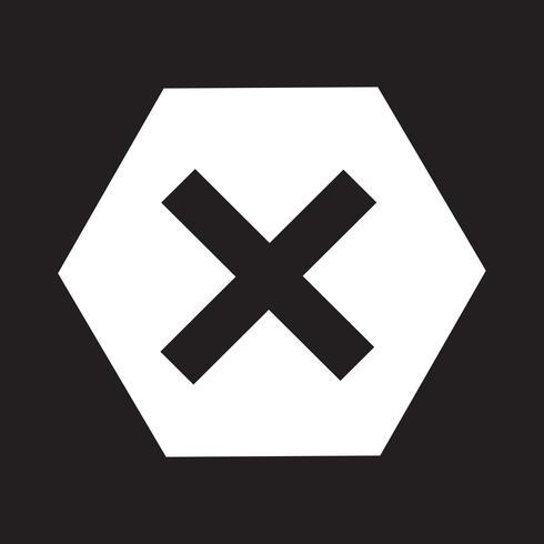 Symbole d'erreur icône