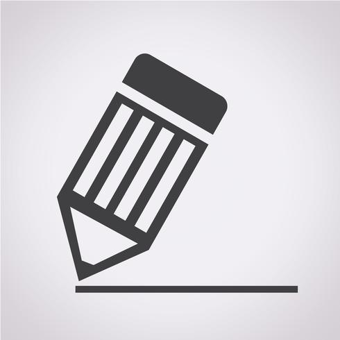 ícone de lápis sinal de símbolo