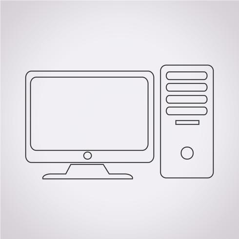Computer icon  symbol sign