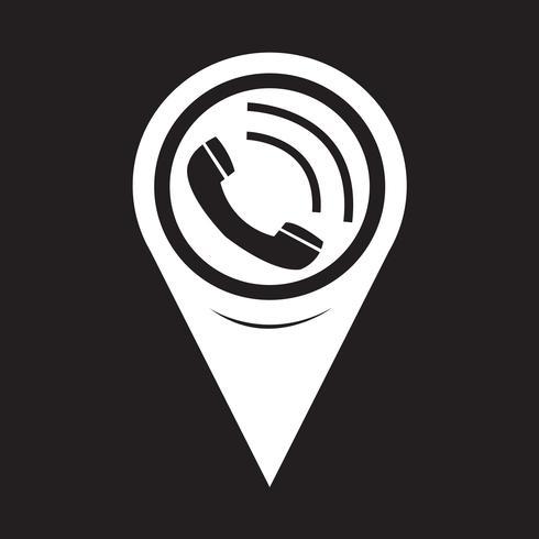 Kartenzeiger Telefonhörer-Symbol