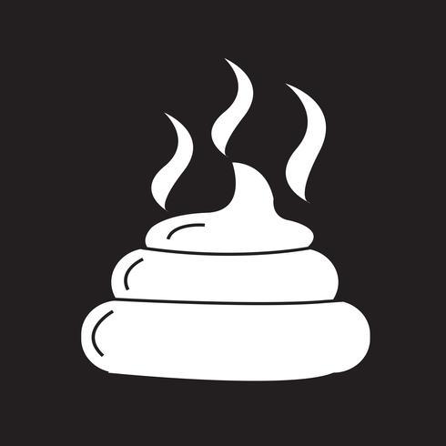 Icono de símbolo de heces signo vector