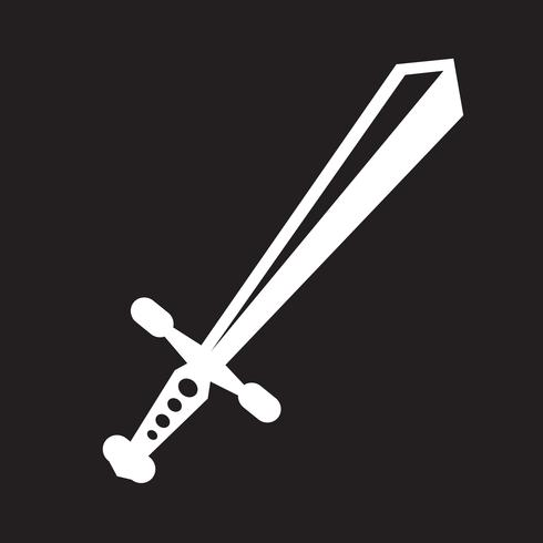 icono de espada símbolo de signo vector