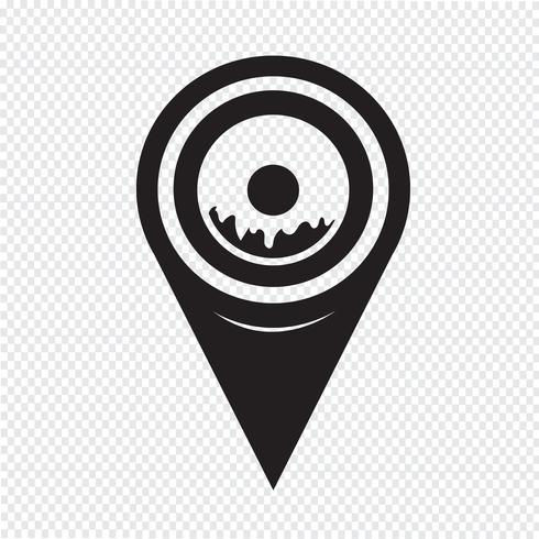 Icona della ciambella puntatore della mappa