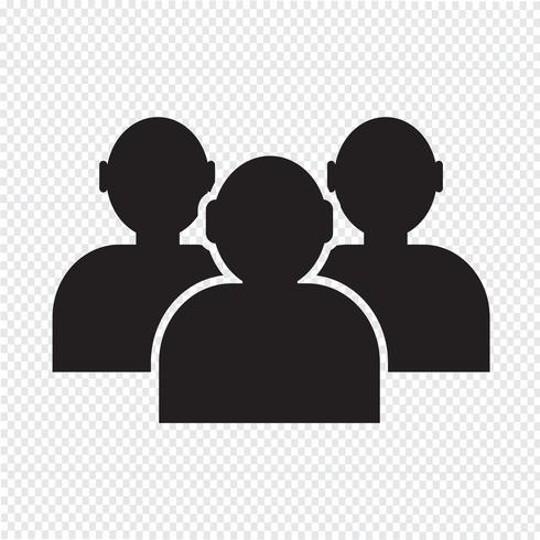 Sinal de símbolo de pessoas de ícone