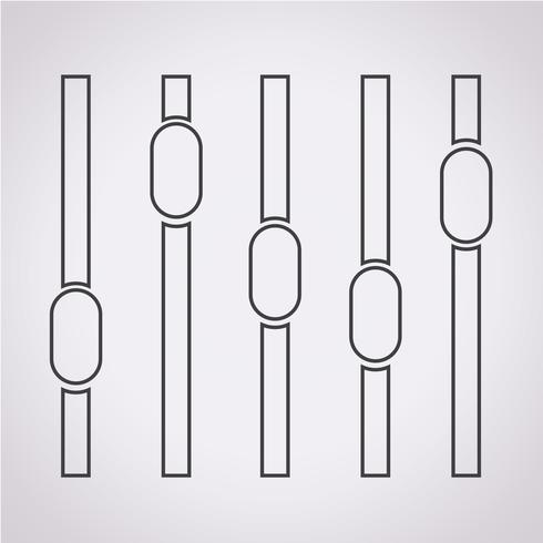 Equalizer-Symbol Symbol Zeichen