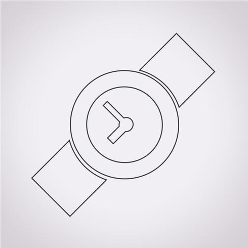 Signo de símbolo de icono de reloj de pulsera