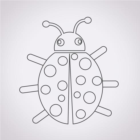 Sinal de símbolo de ícone de bug