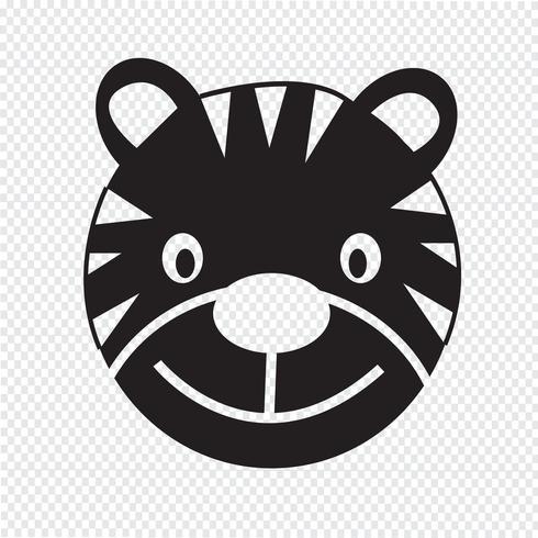 Tiger Icon symbool teken