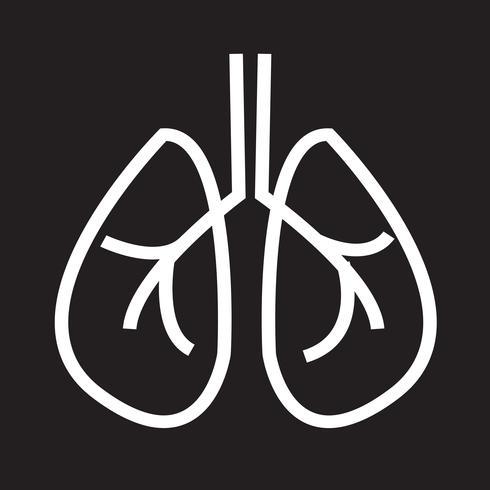 Signe de symbole icône poumons