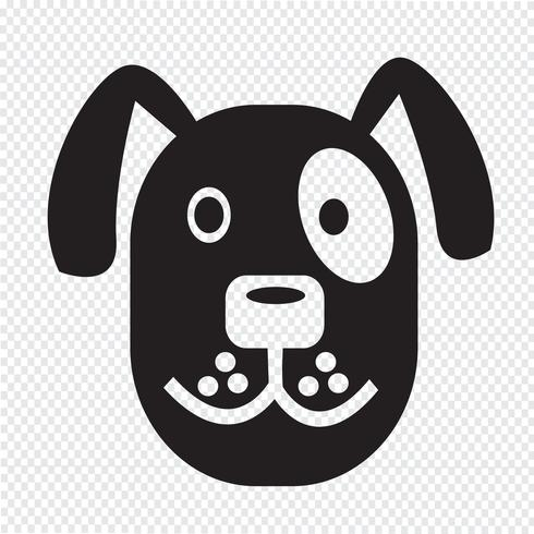 Cane icona simbolo segno