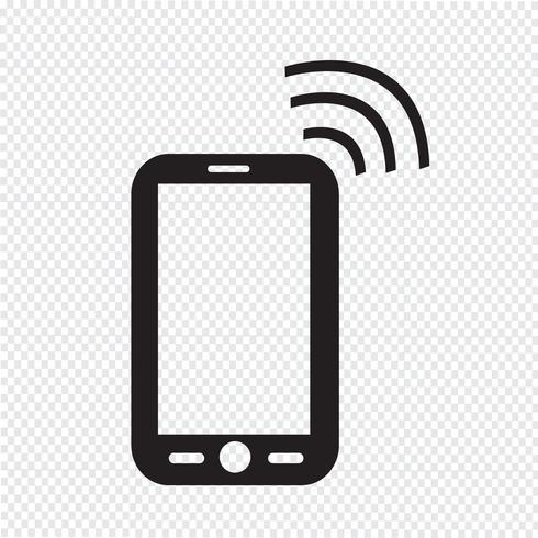 Icono de teléfono símbolo de signo vector