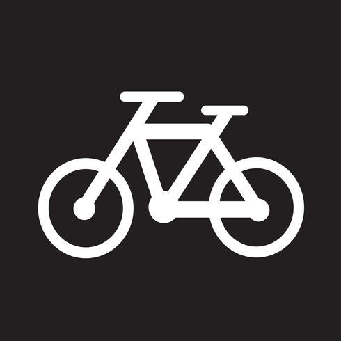 Icono de la bicicleta símbolo de signo