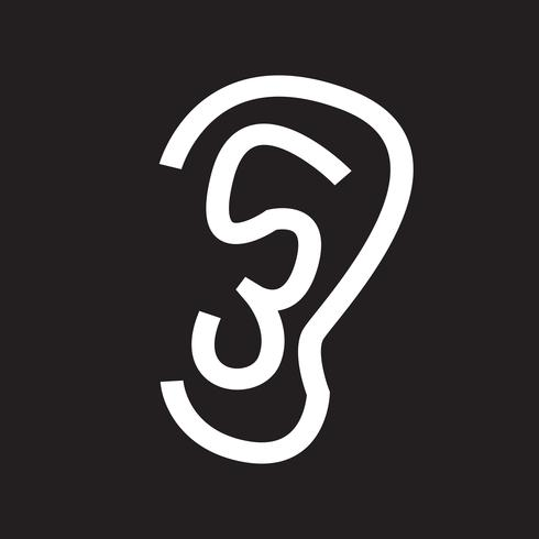 orecchio icona simbolo segno