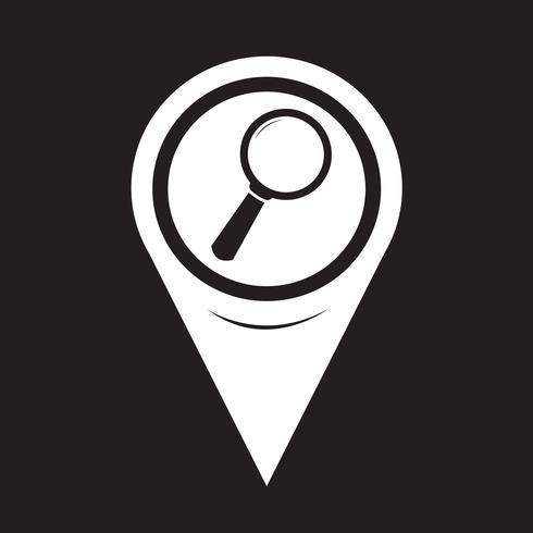Icona di ricerca del puntatore della mappa