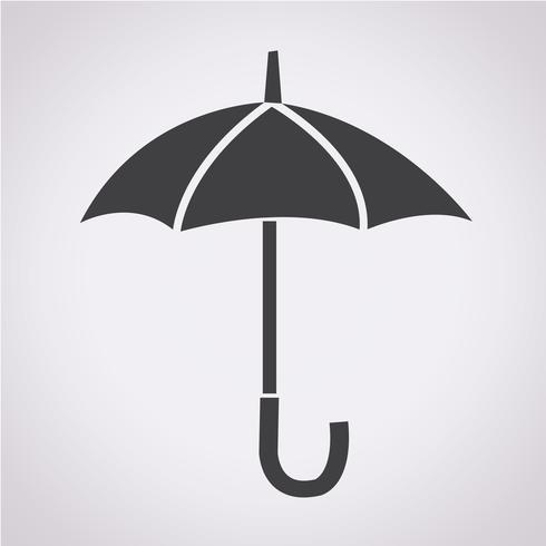 Sinal de símbolo de ícone de guarda-chuva