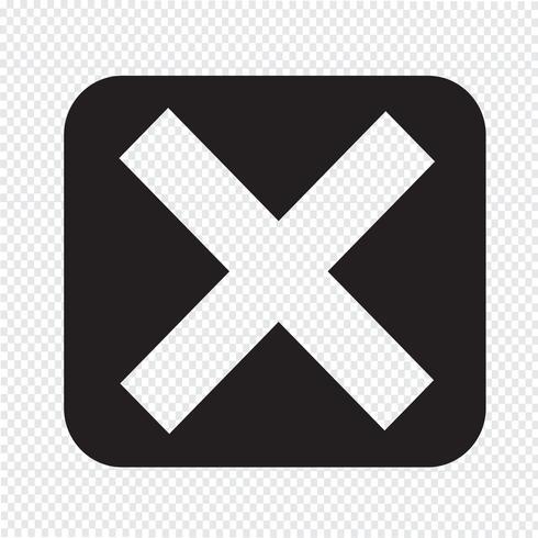 Icono de error símbolo de signo