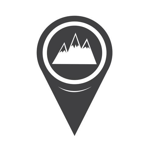 Map Pointer Mountains Icon vector