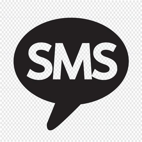 Icono de SMS símbolo de signo
