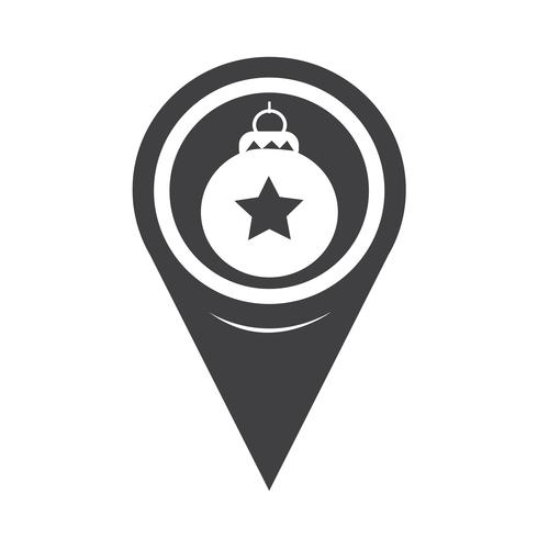 Map Pointer Christmas Ornament Ball Icon