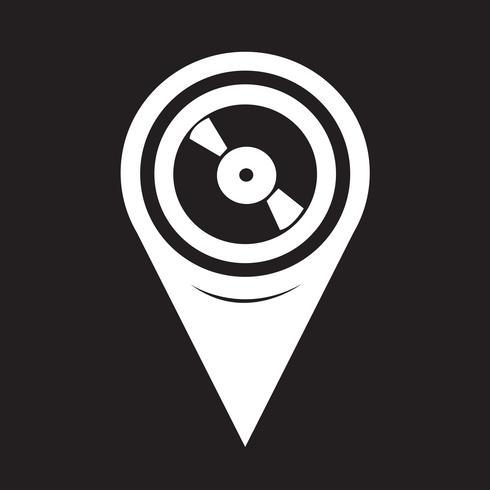 Map Pointer Retro vinyl record icon