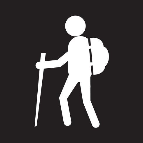 icono de signo de signo de senderismo