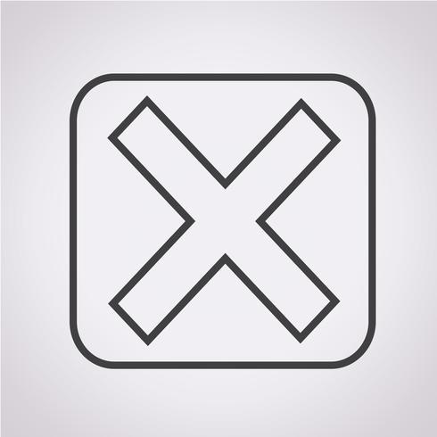 Icona simbolo di errore segno
