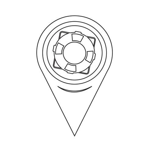 Puntatore della mappa Icona salvagente