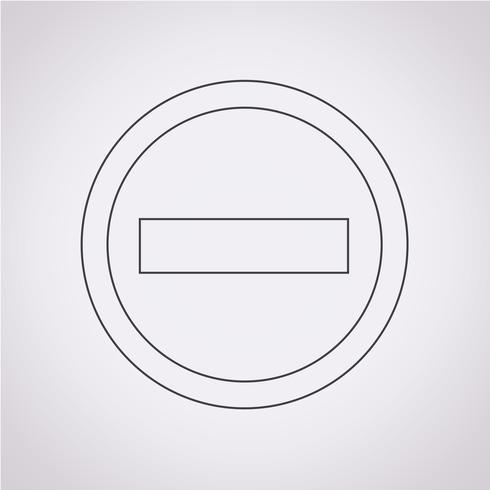 Minus-Symbol Symbol Zeichen