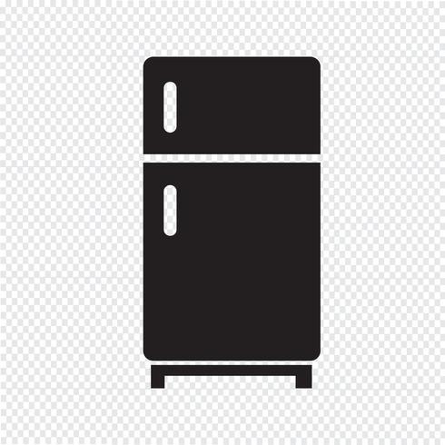 Signo de símbolo de icono de refrigerador