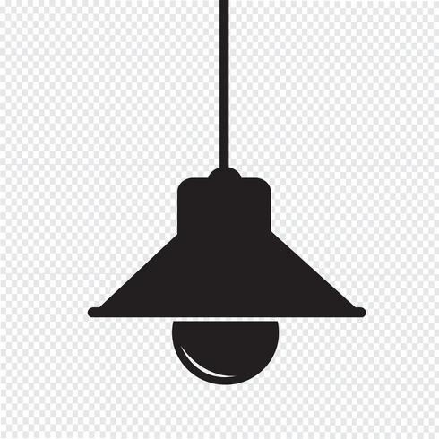 Icono de la lámpara símbolo de signo vector
