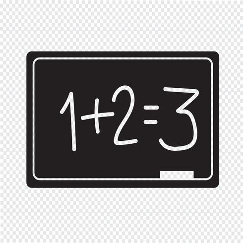 Blackboard pictogram symbool teken