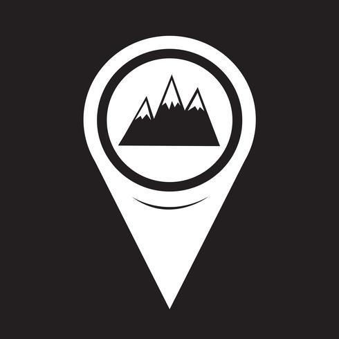 Map Pointer Mountains Icon