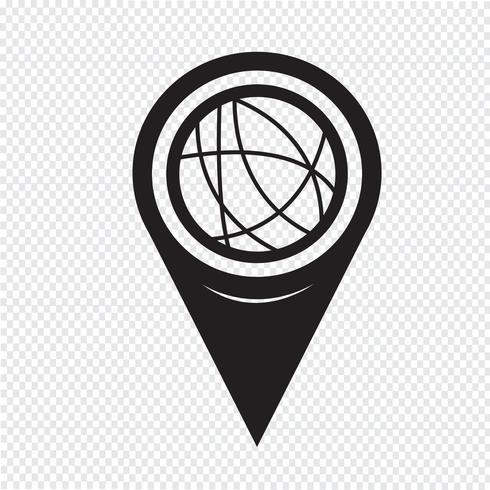 Kartenzeiger Global Social Network Icon