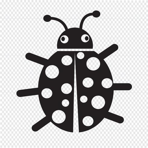 Signe de symbole icône bug