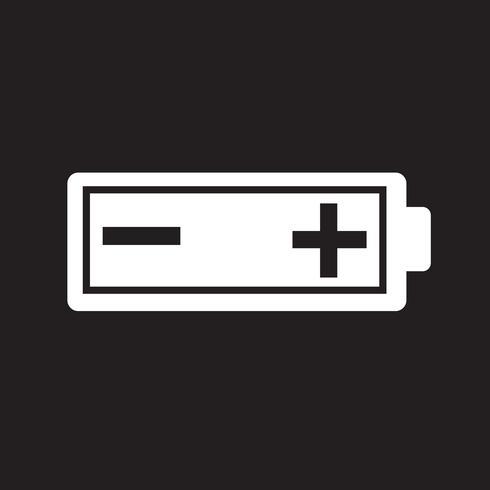 Sinal de símbolo de ícone de bateria
