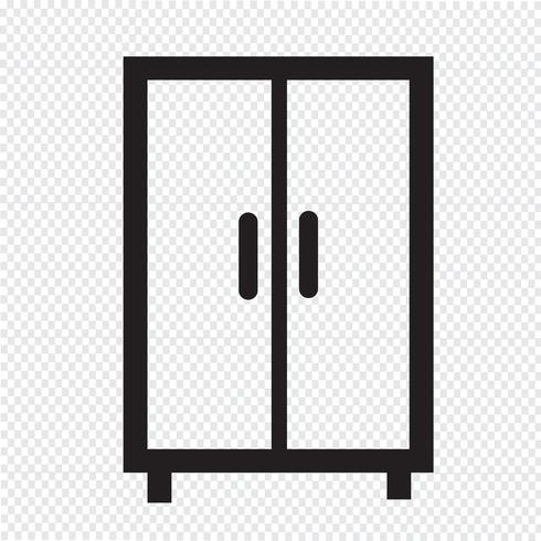 wardrobe icon  symbol sign