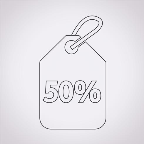 ícone de etiqueta de preço de venda