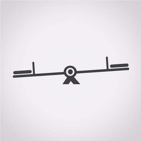 bascule icône symbole signe vecteur