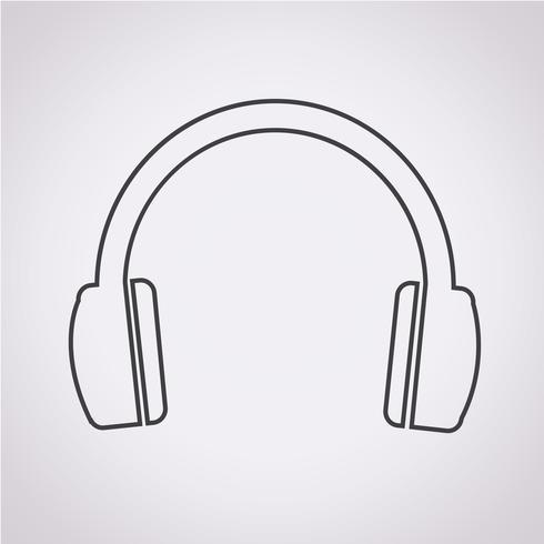 símbolo de ícone de fones de ouvido