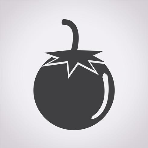 símbolo de icono de tomate signo