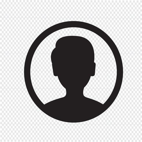 Gebruiker pictogram symbool teken