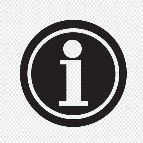 Icono de información símbolo signo