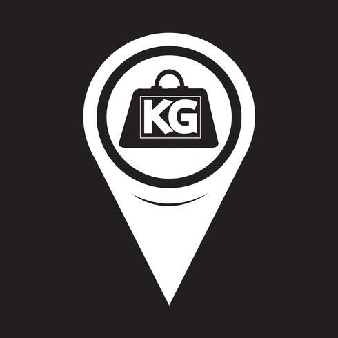 Kaart aanwijzer gewicht kilogram pictogram