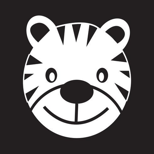 Tiger ikon symbol tecken