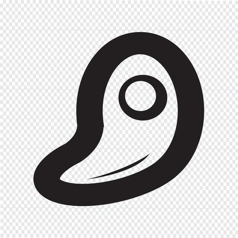 Fleisch Icon Symbol Zeichen