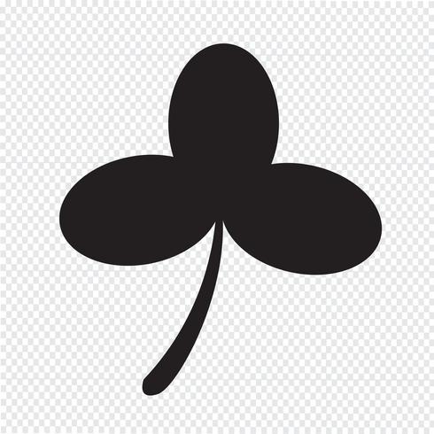 Signo de símbolo de trébol de hoja