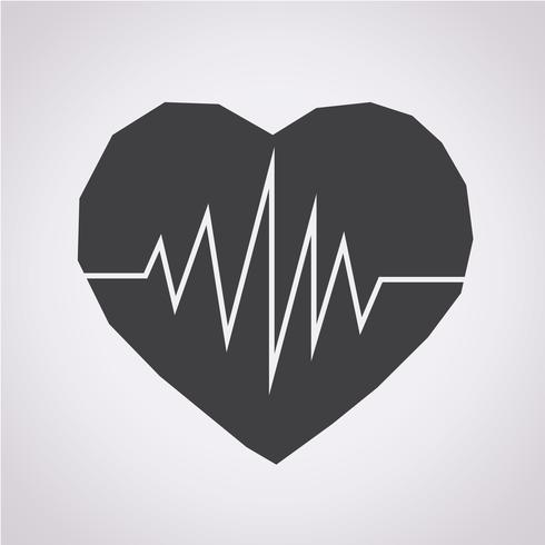 signe de symbole icône battement de coeur