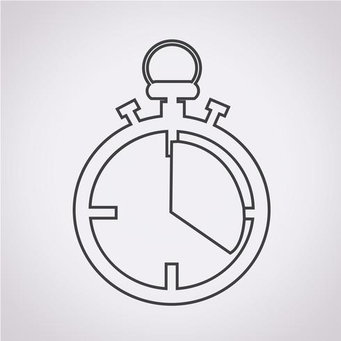 Stoppuhr Symbol Symbol Zeichen