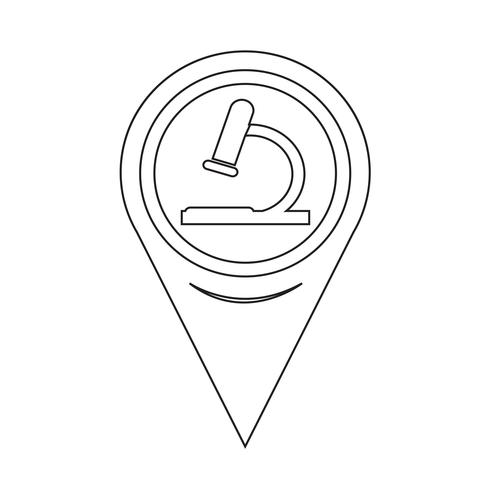 Kartenzeiger-Mikroskop-Symbol