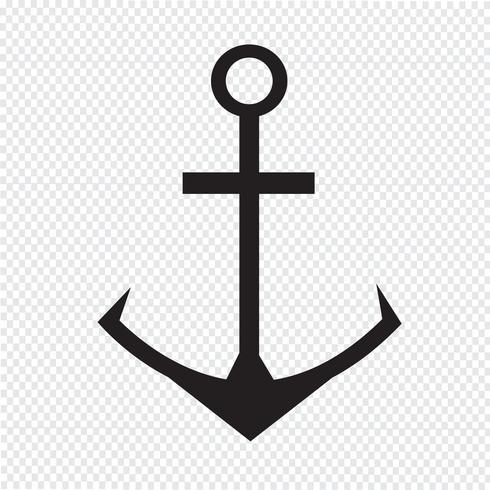 Icona di ancoraggio simbolo segno